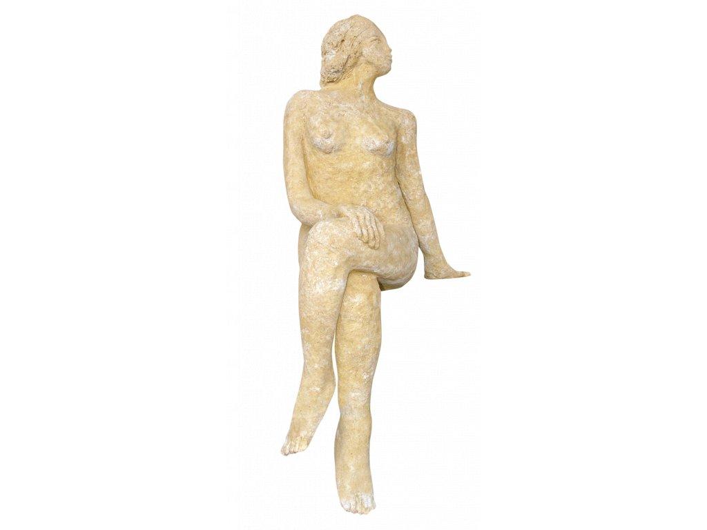 socha, zahradní sochy, Sedící žena  26kg  T