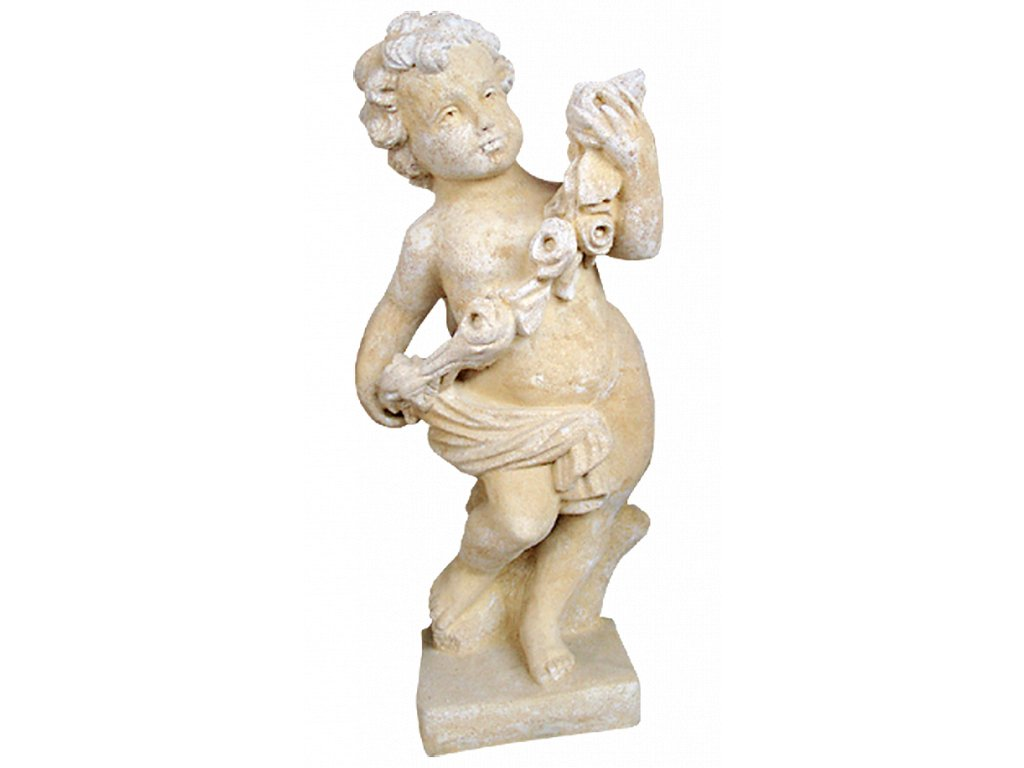 socha, zahradní sochy, Amorek I  30kg  T