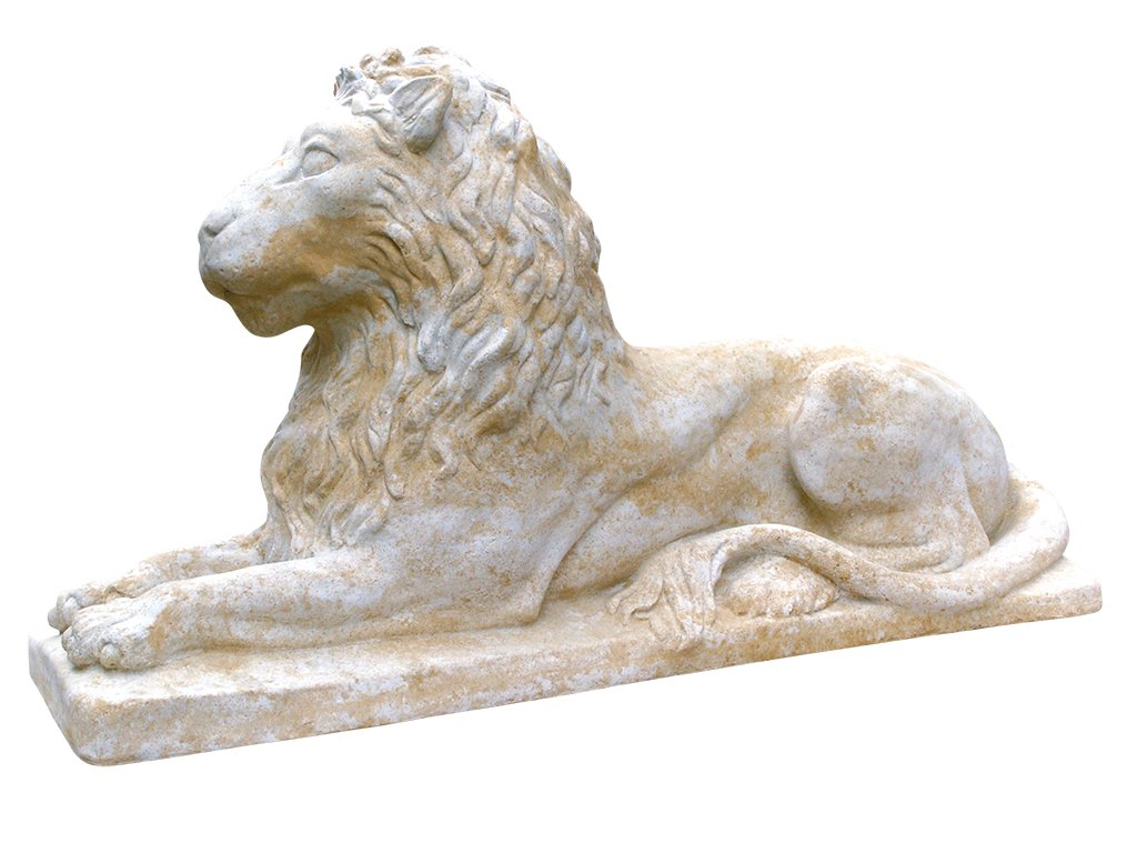 zahradní dekorace zvířat - zahradní sochy zvířat, Lev ležící italský 57 kg  T