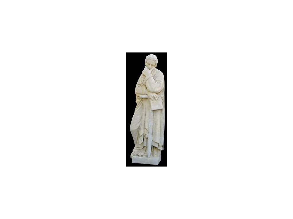 1262 zahradni sochy velke svaty pavel s mecem 108 kg t