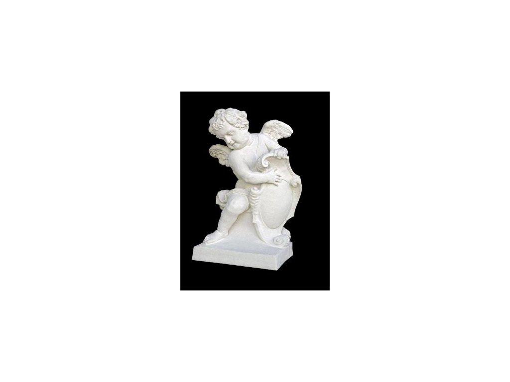 1283 zahradni sochy velke andel baroko levy pravy 220kg t