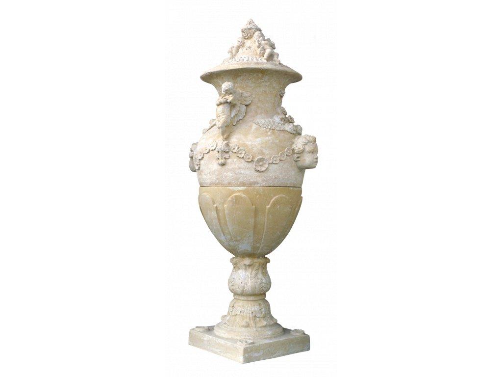 fasádní a stavební prvky, Ozdobný fasádní prvek s andílky 260 kg  T