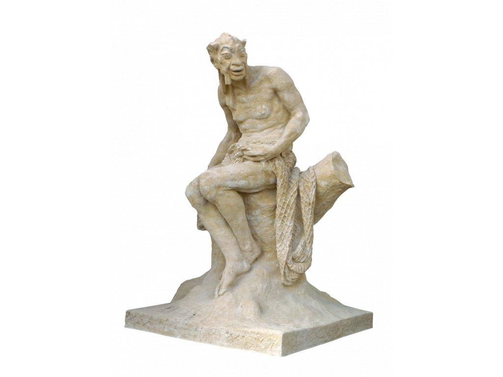socha, zahradní sochy velké z pískovce, Vodník velký 750 kg  T