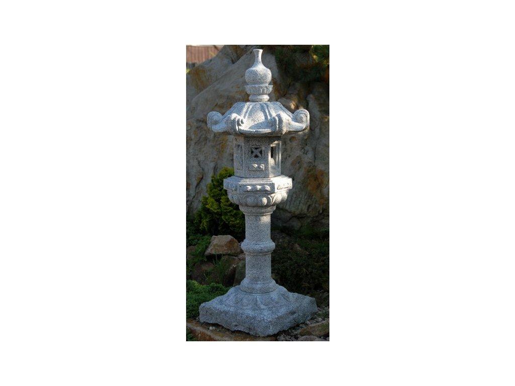 140 japonska lampa kasuga vyska 100cm barva seda