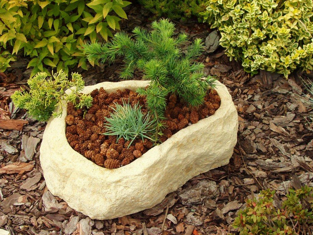SET 3ks kamenná koryta z umělého pískovce TTRP0244 44x33x15cm písková 3ks