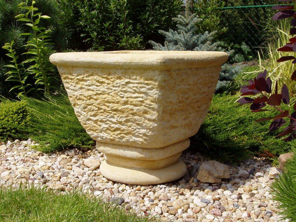 1436 set 2ks zahradni kvetinac vaza ttrp0353 53x53x50cm kamenna
