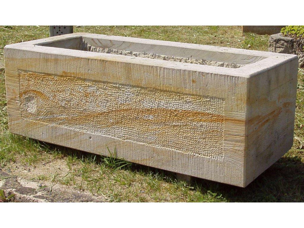 158 kamenne koryto z piskovce elegance 70x35x30cm