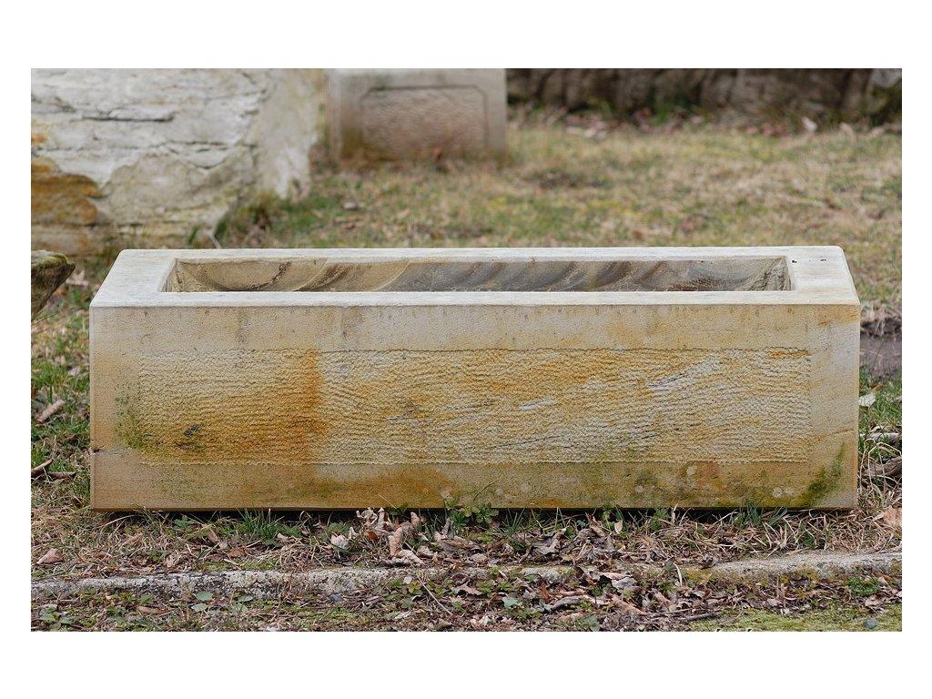159 zahradni koryto elegance 110x40x30 kamenne z piskovce