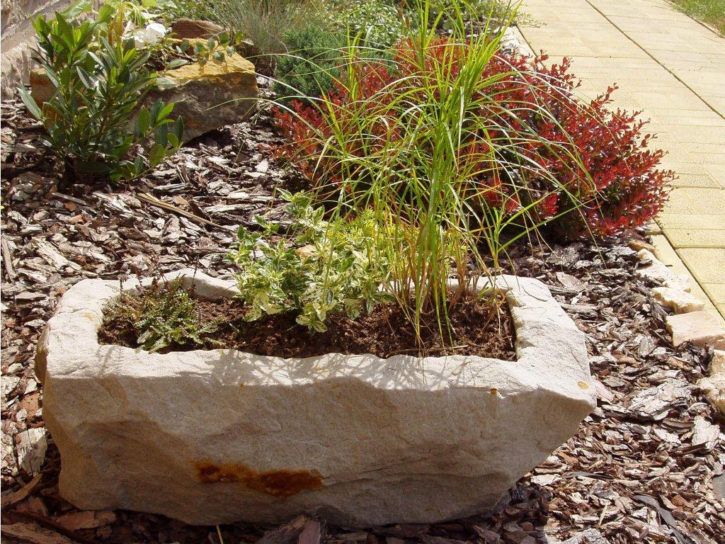 zahradní truhlík NATUR56 56x28x20 kamenný pískovec