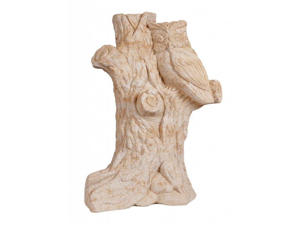 zahradní dekorace zvířat - zahradní sochy zvířat, Výr na pařezu, 69kg