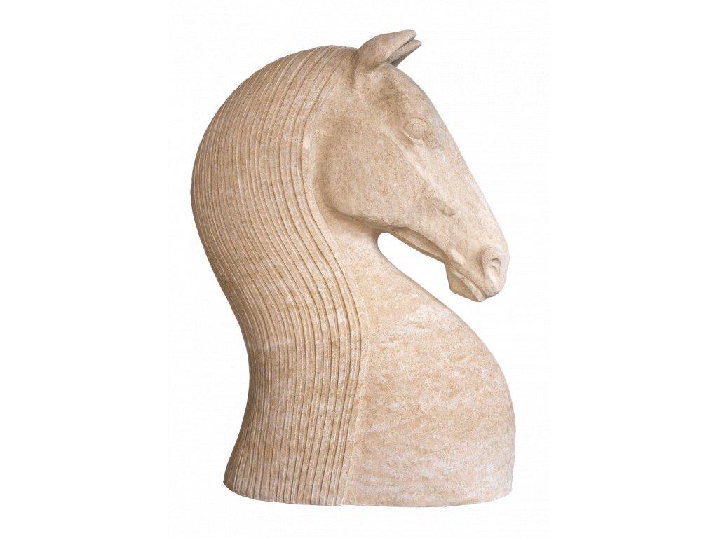 zahradní dekorace zvířat - zahradní sochy zvířat, Hlava koně velká, 350kg