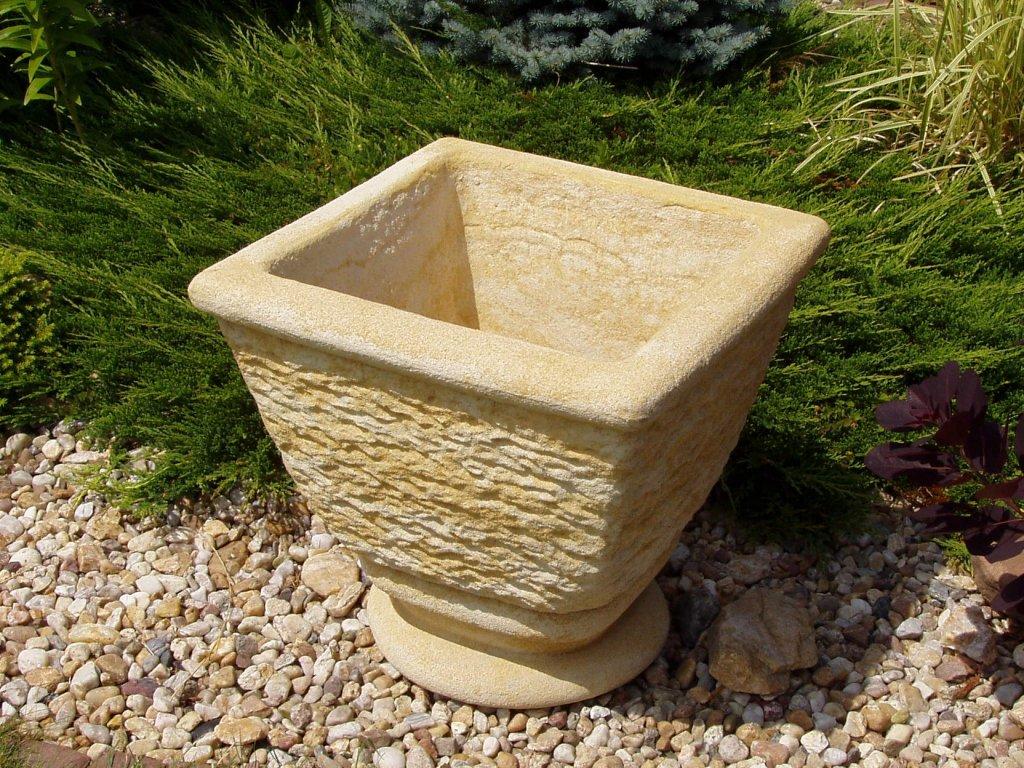 zahradní květináč váza TTRP0353 53x53x50cm písková