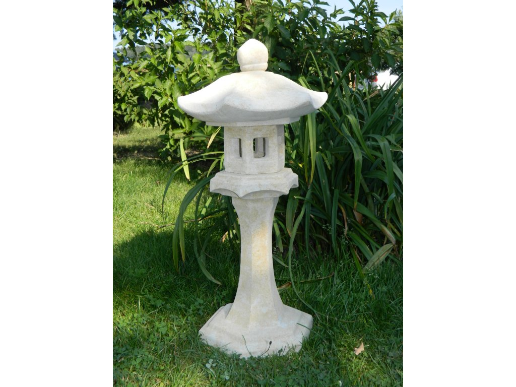 195(1) japonske zahradni lampy 60x45x22cm kamenna okrova