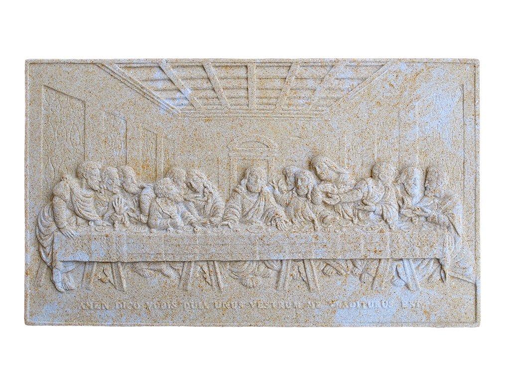 zahradní sochy, Poslední večeře Páně - reliéf, 4,5kg