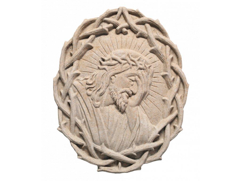 zahradní sochy - zahradní dekorace, Ježíš Kristus v trnové Kkoruně, 1,9kg