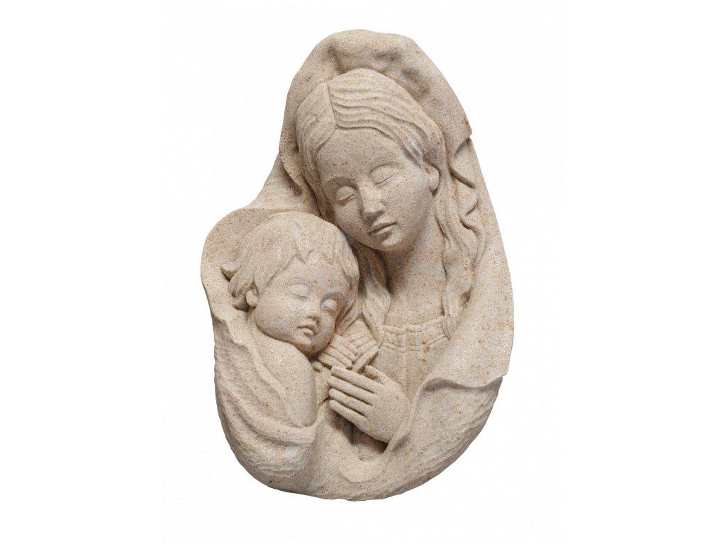 zahradní sochy - zahradní dekorace, Madona s dítětem II, 1,5kg