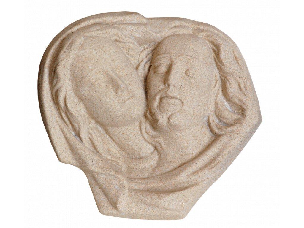 zahradní sochy - zahradní dekorace, Ježíš Kristus a Madona, 1,1kg