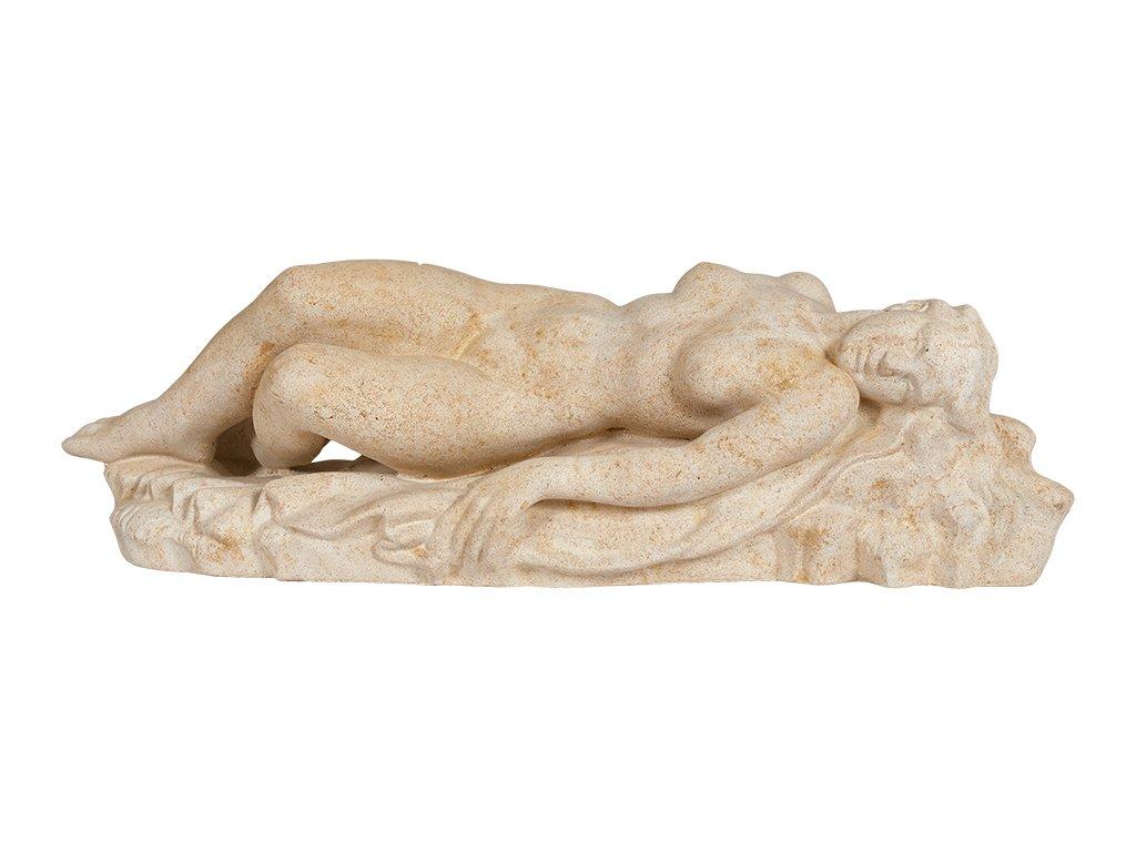 zahradní dekorace - sochy a sošky na zahradu, Ležící žena na zádech, 30kg