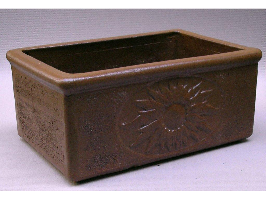 Zahradní keramika - květináč 60x40 600x400x270 (Odstín-glazura 2.cihlově tmavá-terakota-CT)