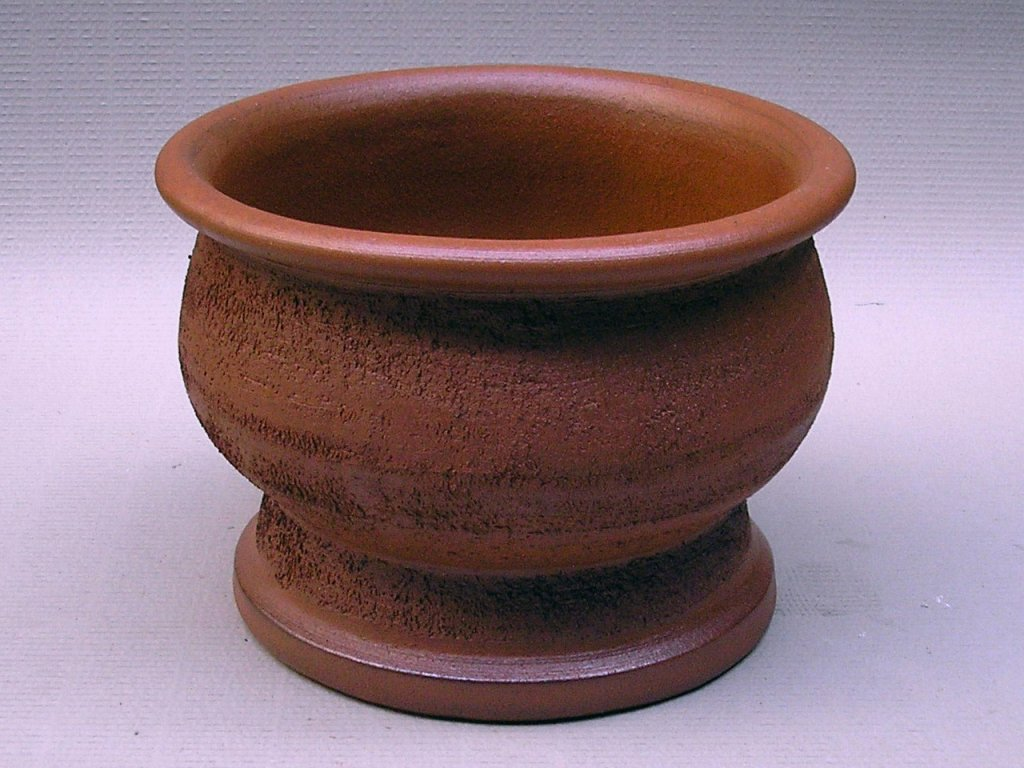 Keramické květináče - váza III 380x270 (Odstín-glazura 2.cihlově tmavá-terakota-CT)