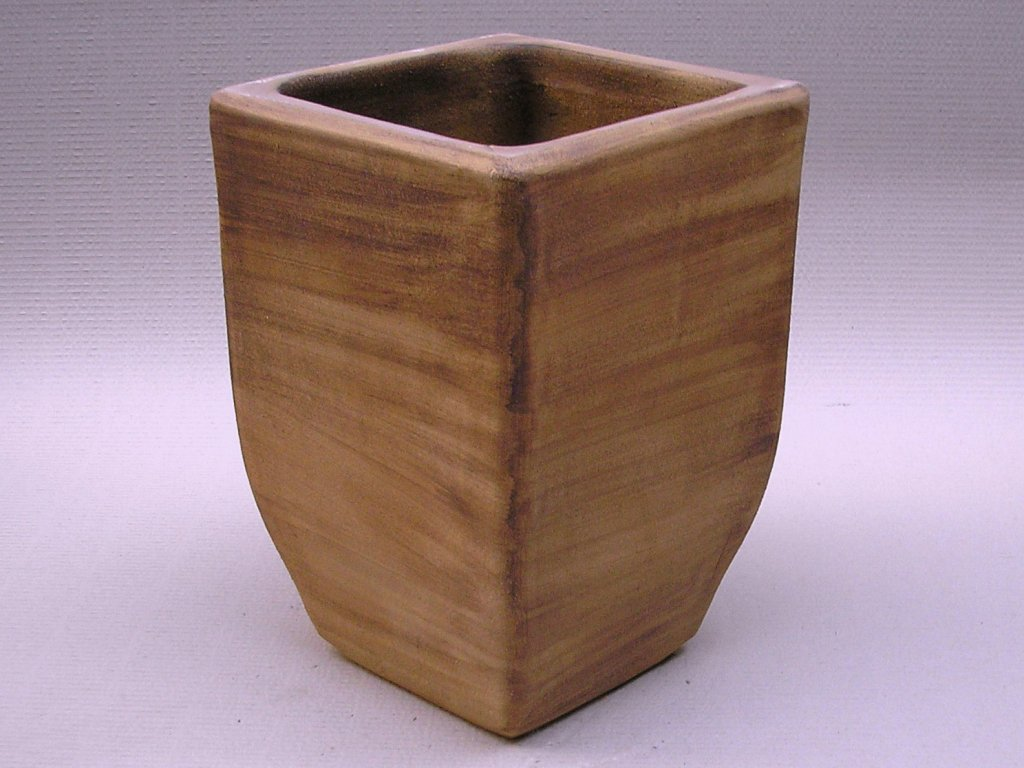 Keramické květináče - váza LINIE 280x400 (Odstín-glazura 2.cihlově tmavá-terakota-CT)