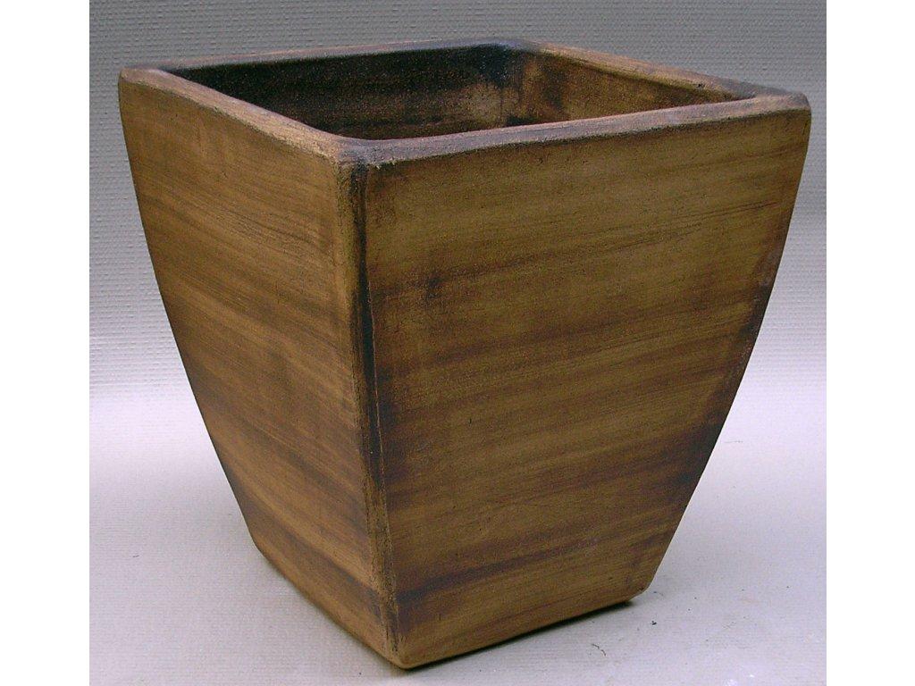 Keramické květináče - váza kónická 450x450x480 (Odstín-glazura 2.cihlově tmavá-terakota-CT)