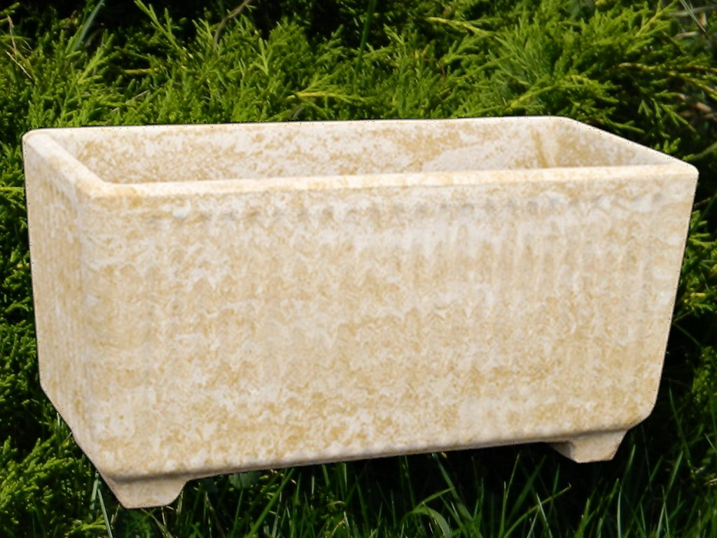 kamenný květináč velký kontejner 40cmx80x38cm kamenný umělý pískovec
