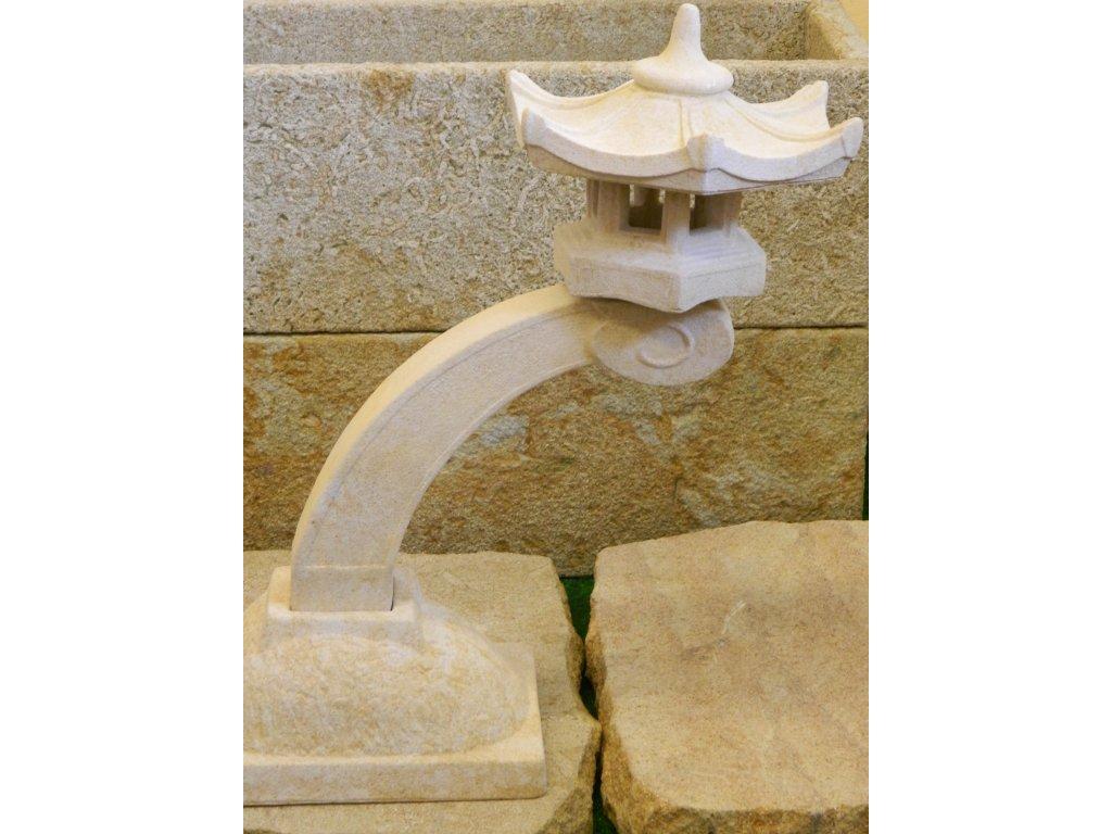 295 japonske zahradni lampy prumer22x45cm kamenna piskova