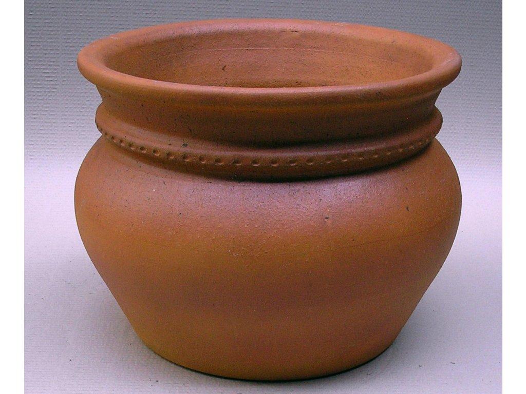 Keramické květináče - váza IV 440x350 (Odstín-glazura 2.cihlově tmavá-terakota-CT)