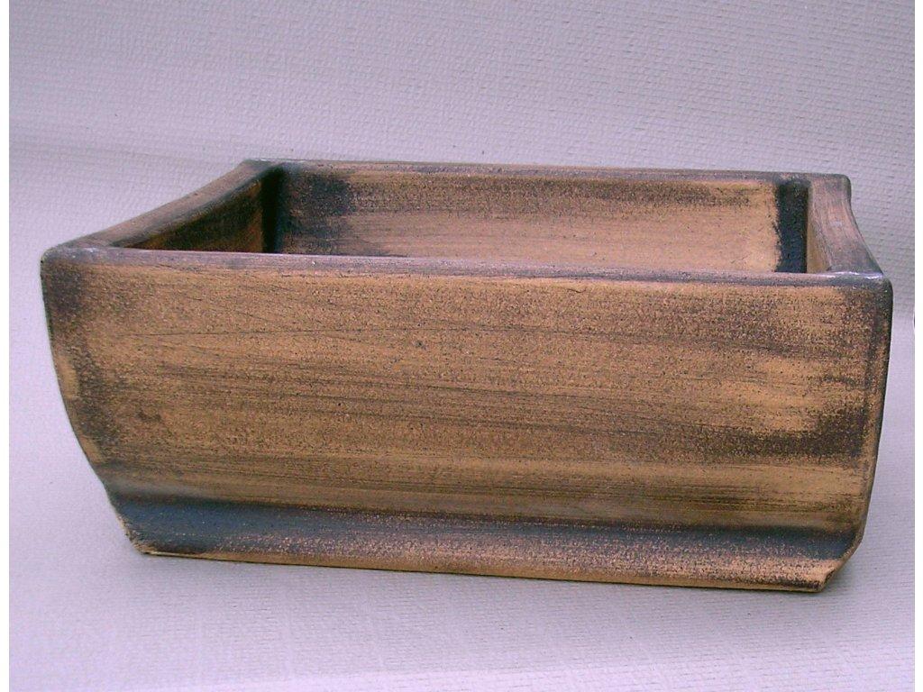 Keramické květináče - koryto  60 410x220x600 (Odstín-glazura 2.cihlově tmavá-terakota-CT)