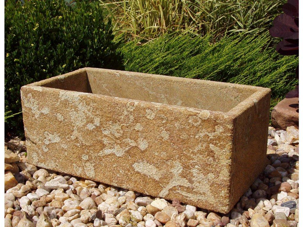 402 kamenne koryto z piskovce jemne 50x24x19 piskova prirodni