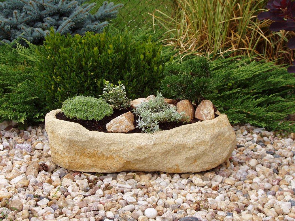 78(1) zahradni koryto ttrp1654 58x28x15 kamenny vzhled