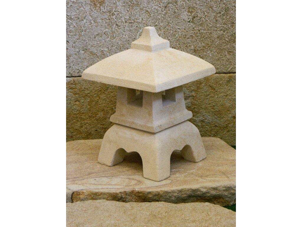 870 zahradni lampa vyska 30cm kamenna okrova