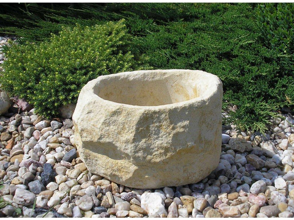 87 zahradni kamenny truhlik ttrp0330 30x25x18cm piskova