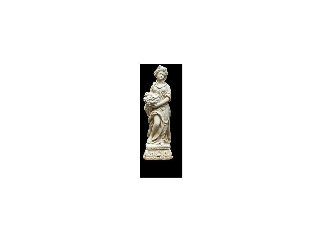 968 zahradni sochy a dekorace zena s ovocnym kosem 1 8 kg j