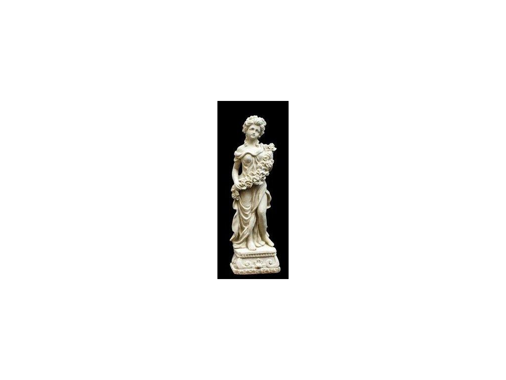 969 zahradni sochy a dekorace zena s kvetinovou girlandou 1 8 kg j
