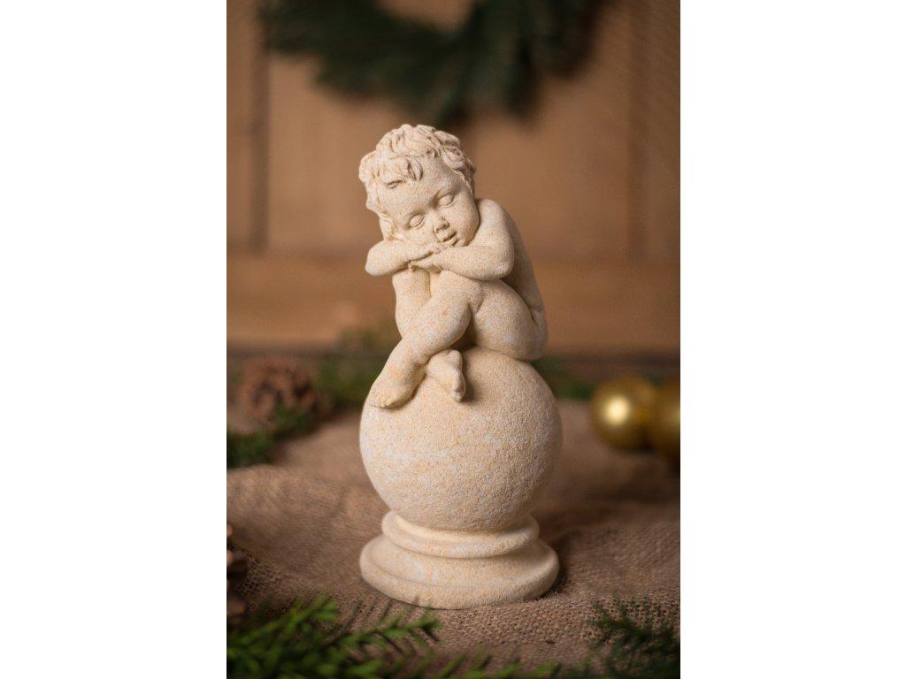 zahradní sochy a dekorace, Dítě na kouli 2,2kg  J