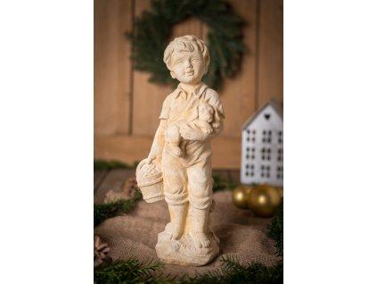 socha dite chlapec s pejskem jeziskova dilna