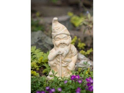 zahradní sochy a dekorace, soška trpaslík s krumpáčem 3kg