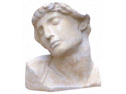 socha, zahradní sochy, Busta muže  II.  18 kg T