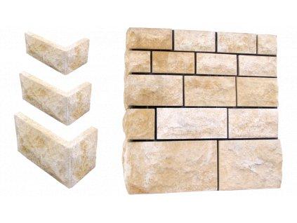 fasádní a stavební prvky, Obklady 30x17x2,5cm  60-75kg  Ch