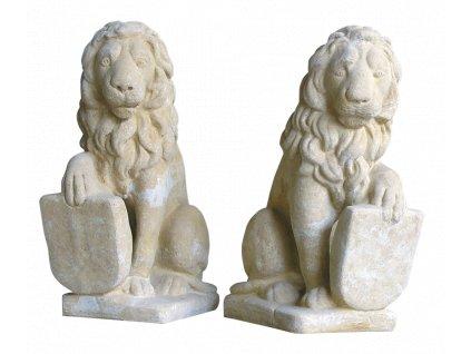 zahradní dekorace zvířat - zahradní sochy zvířat, Lev 12kg  T