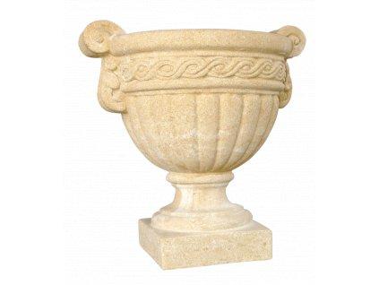 zahradní váza 29kg průměr 32x44cm kamenná T