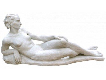 socha, zahradní sochy, Ležící žena 21 kg T