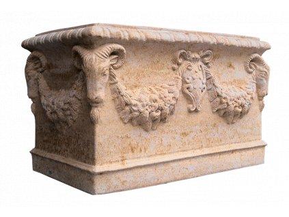 zahradní koryto s reliéfem 68x42x40cm 120kg T kamenné