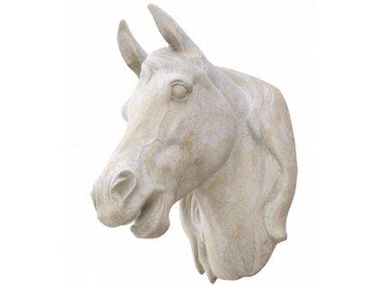 zahradní dekorace zvířat - zahradní sochy zvířat, Hlava koně III  38kg  T