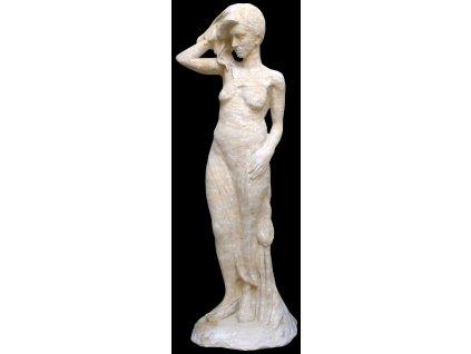 socha, zahradní sochy velké z pískovce, Velká dívka 186kg T