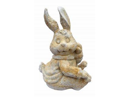 zahradní dekorace zvířat - zahradní sochy zvířat, Zajíc, 22kg