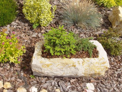 162 kamenne koryto z piskovce natur 66cm
