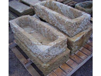 164 kamenne koryto z piskovce natur 110cm